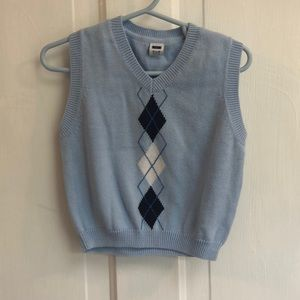 JANIE AND JACK | Blue Argyle Sweater Vest Toddler